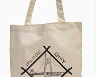 "Sale - St Johns Bridge Envy Natural 100% Organic Cotton Tote - 15 1/2"" x 14"""