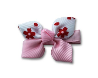 Red flower hair clip, hair clips for kids, accessories clips, pink hair clip