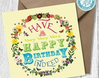Very Very Very Happy Birthday  Card