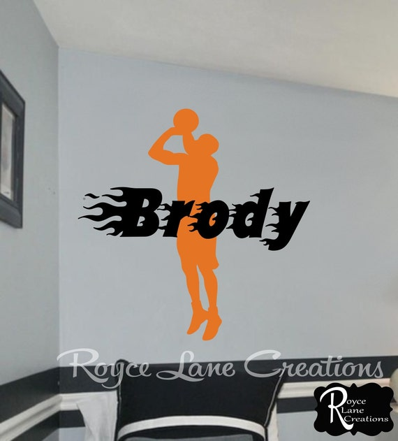 Items Similar To Basketball Decal With Personalized Name Decal For Teen Boys Bedroom Sports Wall