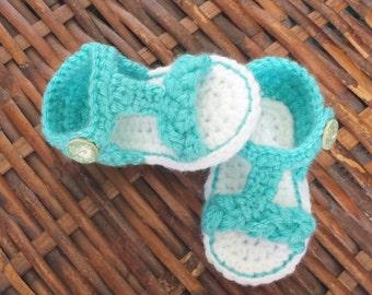 Crochet Braided Sandals --0-3Mo