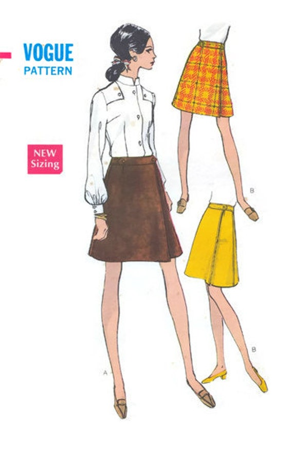 items similar to 1960s vintage a line wrap skirt pattern