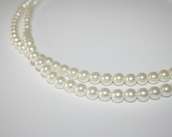 Beautiful Vintage Faux Pearls 50 inches,