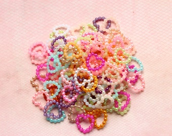 6 mm Beaded Heart Cabochons Embellishments Kawaii Decoden Pearl