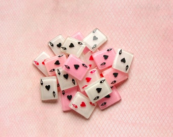 Playing Card Cabochons Flatback Embellishments Kawaii Decoden Resin