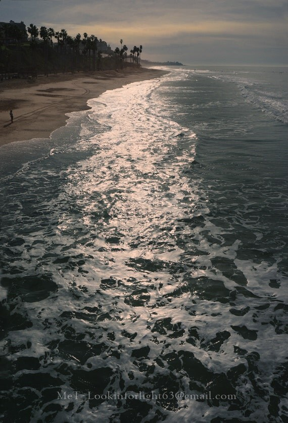 Ocean Sunrise Photo | Pacific Ocean Waves |California Sunrise | T-Street, San Clemente Beach  | Orange County Beach | California Beach Art