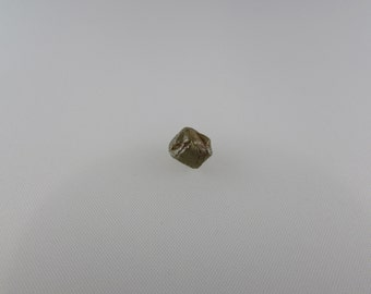 3.6 carat Greenish Orange opaque rough cut diamond, round shaped from Congo, exequisite Greenish Orange diamond