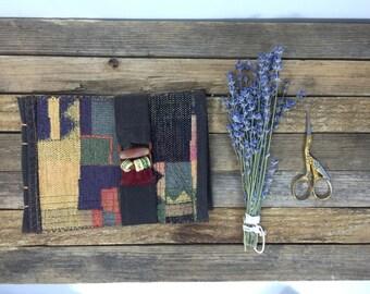 Handmade, fabric covered, inspiration journal