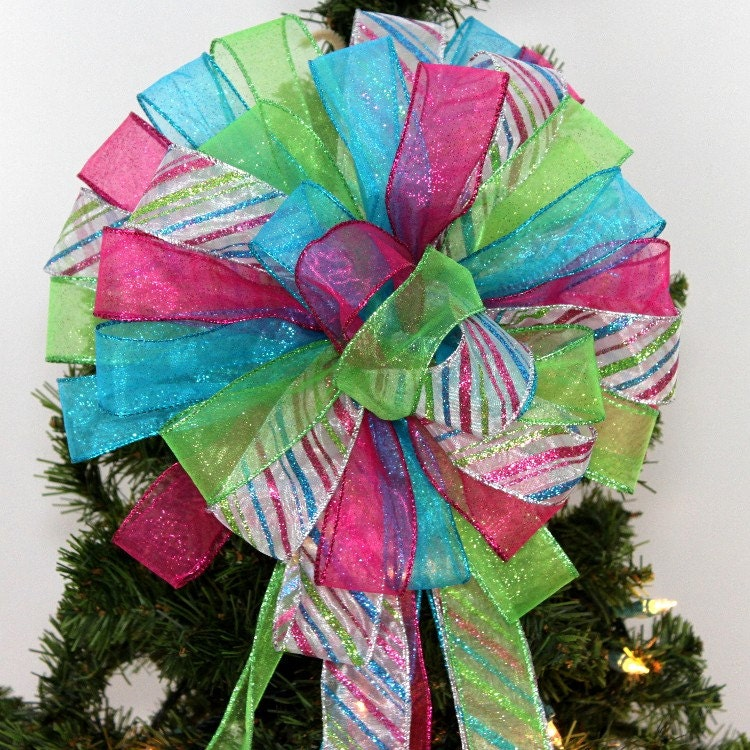 Turquoise And White Christmas Tree: Hot Pink Turquoise Lime Sparkle Christmas By