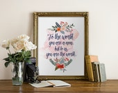 "Mother's Day Print, wall art quotes, quotes poster, poster quote, quote print, quote art, Typography, Quote, ""Print"""