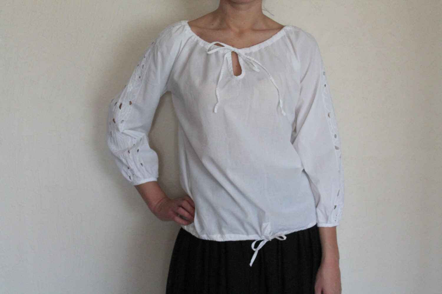 Womens Cotton Peasent Blouses 95