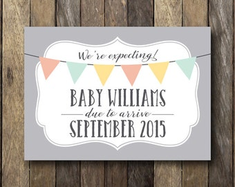 Pregnancy Announcement Printable - Customized Pregnancy Announcement - Printable Pregnancy Reveal - Pregnancy Announcement Prop