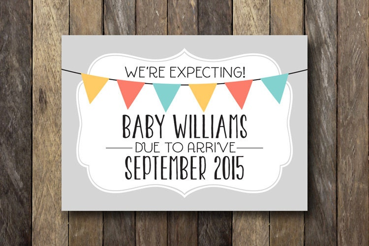 It is a photo of Sweet Free Printable Pregnancy Announcement Cards