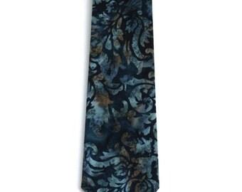 Dark Blue Batik Necktie