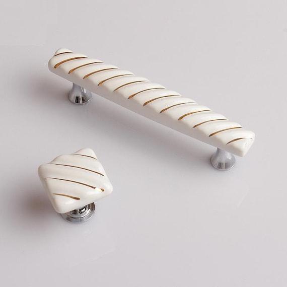 Dresser Pull Ceramic Drawer Pulls Knobs Handles Cabinet Knob French Kitchen Furniture Handle