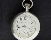 Hampden Watch Co Sterling Silver Pocket Watch