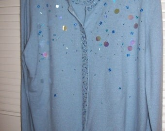 Lilly Pulitzer lambs wool sweater set REDUCED  , cardigan over jeweled tank top. never worn -holiday lovely