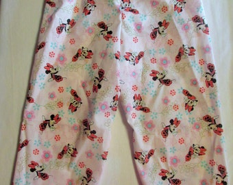 Minnie mouse pajama cotton pants size 1/2T to 14