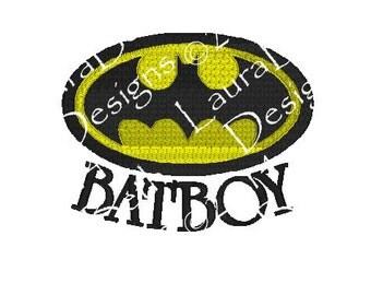 BatBoy BatMan Bat Boy ~ Full Embroidery Digital Designs  ~ INSTANT DOWNLOAD ~ 4x4, 5x7 and 6x10 Sizes