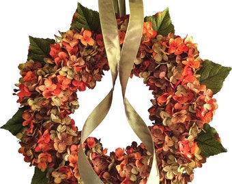 Fall Wreath | Blended Hydrangea Wreath | Front Door Wreaths | Summer Wreath for Front Door | Front Door Wreath | Wreath | Housewarming Gift