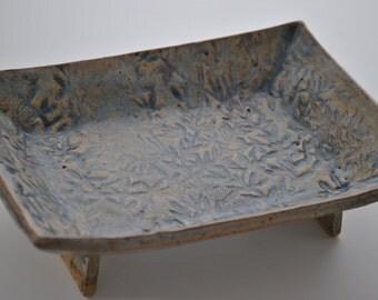 Blue Ceramic Organic Tray