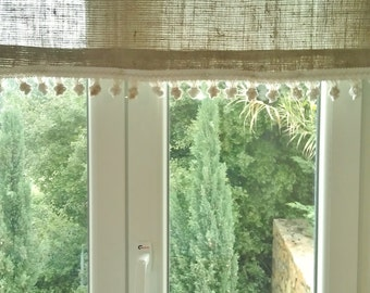 Items Similar To Tie Up Valance Burlap Decorative Natural