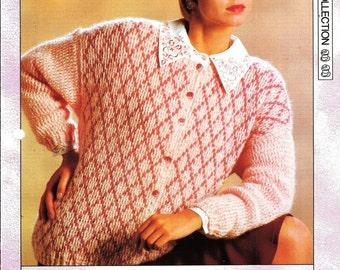"Crochet pattern - Woman's ""Sherbet Pink"" cardigan - Instant download"
