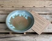 Reserved for Loran - Stoneware Garlic Grating Bowl - Garlic Grater