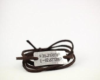 coordinates bracelet, coordinate jewelry, valentines day gift, anniversary gift, wedding gift, gps coordinates bracelet, mothers day gift