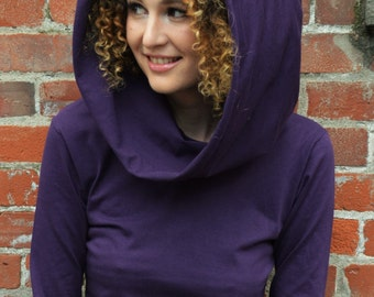 Nomad dress -*new colors*  hooded cowl dress with pocket- made from 100% organic cotton jersey