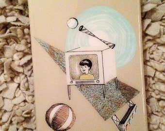 4x6 Vintage Illustrative Collage