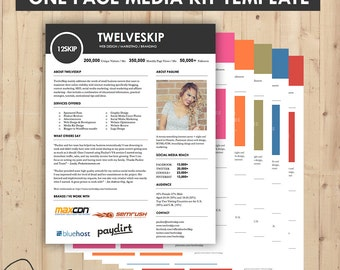 Media Kit, Press Kit Templates { Easy To Edit, Clean & High Quality } Marketing