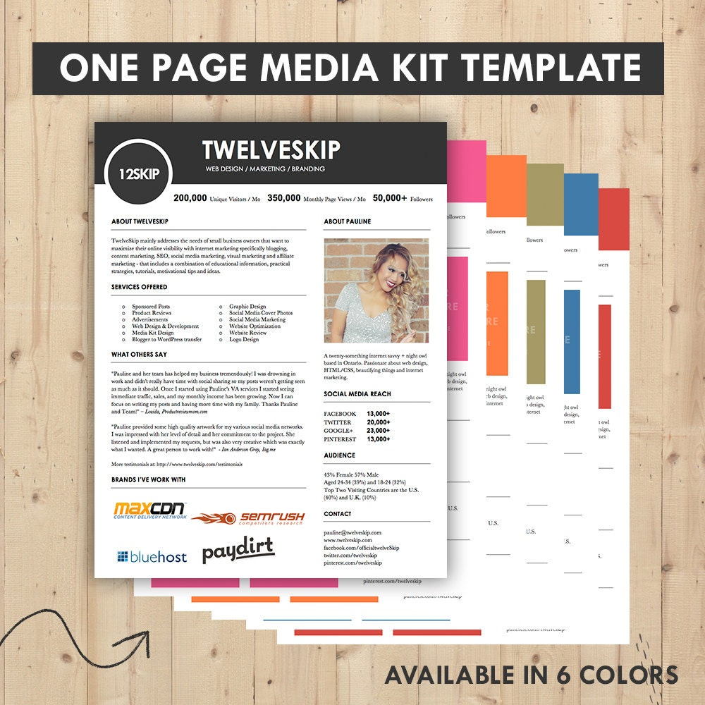 media kit press kit templates easy to edit clean high. Black Bedroom Furniture Sets. Home Design Ideas