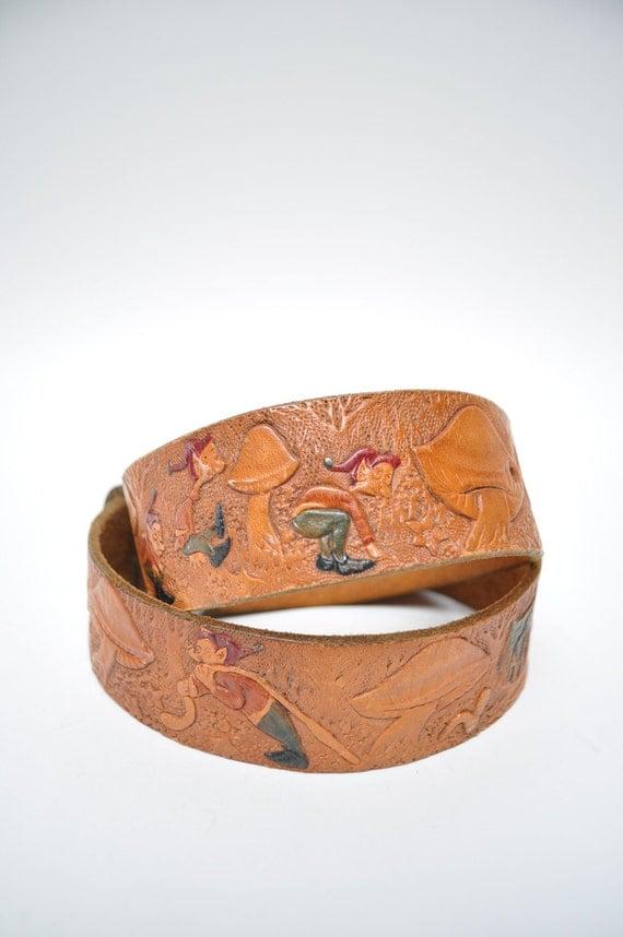 Vintage Leather Belt Vintage Leather Belt And