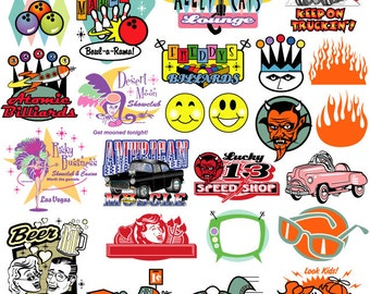 Retro Clipart Retro Clip Art - Commercial and Personal Use