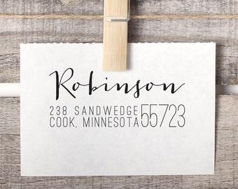 Return Address Stamp, Calligraphy Address Stamp, Personalized Address Stamp, Wedding Stamp, Custom Address Stamp, Wedding Gift Style No. 69