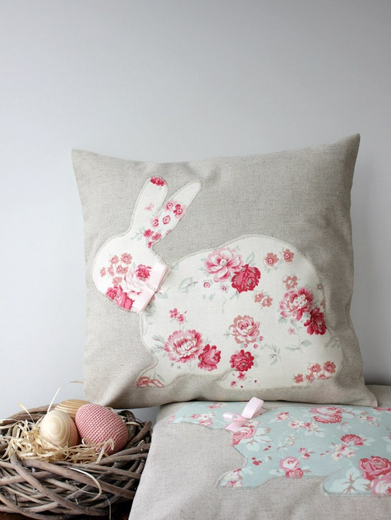 Decorative Pillows For Easter : Easter Bunny Rabbit Pillow Cover Kids Pillow Easter