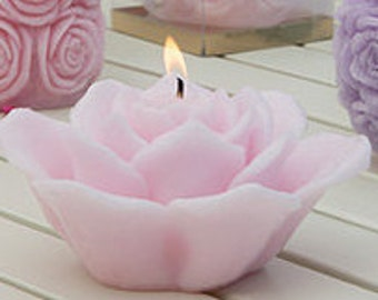 Decorative candles - Scented Candles - Flower Candles - Home decor - Pink Candles
