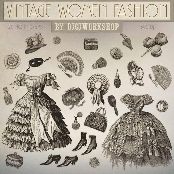 Vintage Fashion Clip Art 22