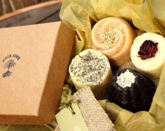 Handcrafted Artisan Soap Gift Box, Natural Soap Set in Box