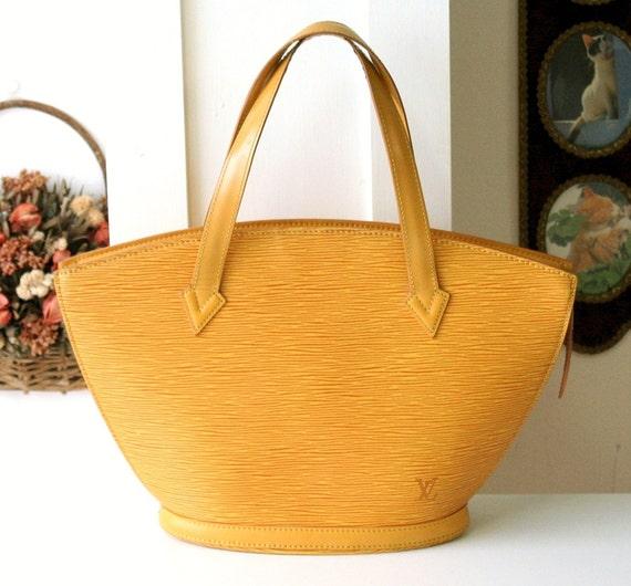 ... Louis Vuitton St. Jacques Epi Tote Leather Bucket Hand bag 100%