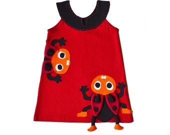 Ladybug Dress in Red & Black