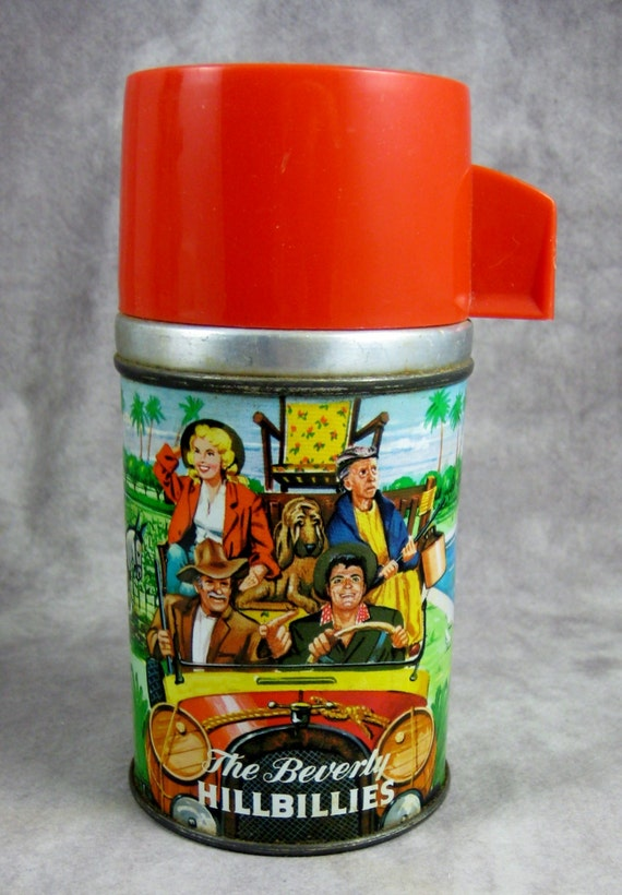 1963 BEVERLY HILLBILLIES Metal Thermos by Aladdin Filmways
