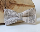 Old Dictionary Bow Tie.Vocabulary Text Bow Tie. Typography Bow Tie. Letter Bow Tie