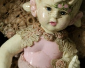 "Altered Art Doll OOAK ""Eve"" Beautiful Angel/Fairy Doll With Pull Toy"