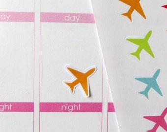 35 Airplane Stickers for Erin Condren Planner, Filofax, Plum Paper