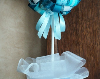 Frozen Inspired Centerpiece Topiary.Frozen Inspired Decoration.Girl Birthday Party