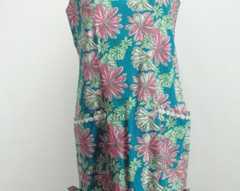 1990s Does 1960s Lilly Pulitzer Floral Shift Dress, 1990s Lilly Pulitzer Dress, 1990, 1990s, 1960s Dress, Mod Dress, 1960s  Madmen Dress,
