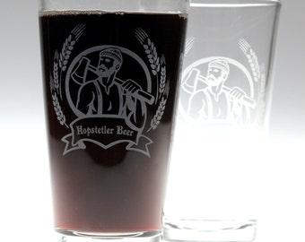 Lumberjack themed art  on Glasses Set of 2,homebrew gift,home brew,growler gift,custom growler,lumberjack gift,woodsman