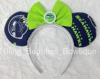Seattle Seahawks NFL Minnie Mouse Ears - Headband